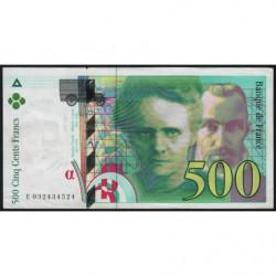 F 76-02 - 1995 - 500 francs - Pierre et Marie Curie - Série E - Etat : SUP-