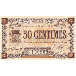 Granville - Pirot 60-01a - 50 centimes - 1915 - Etat : SUP+