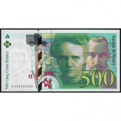 F 76-02 - 1995 - 500 francs - Pierre et Marie Curie - Série E - Etat : pr.NEUF