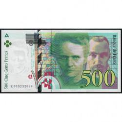 F 76-02 - 1995 - 500 francs - Pierre et Marie Curie - Série E - Etat : SUP+