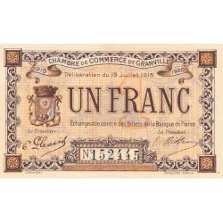 Granville - Pirot 60-4 - 1 franc - 19/07/1915 - Etat : NEUF