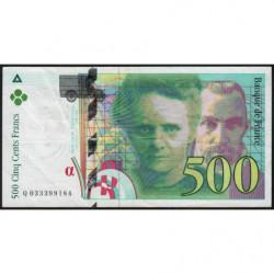 F 76-02 - 1995 - 500 francs - Pierre et Marie Curie - Série Q - Etat : TB+