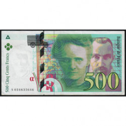 F 76-02 - 1995 - 500 francs - Pierre et Marie Curie - Série S - Etat : TTB+