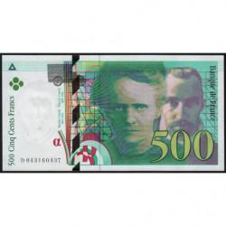 F 76-05 - 2000 - 500 francs - Pierre et Marie Curie - Série D - Etat : NEUF