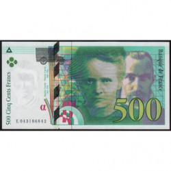 F 76-05 - 2000 - 500 francs - Pierre et Marie Curie - Série E - Etat : NEUF
