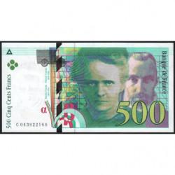 F 76-05 - 2000 - 500 francs - Pierre et Marie Curie - Série C - Etat : NEUF