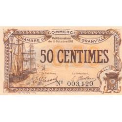 Granville - Pirot 60-7 - 50 centimes - 03/10/1916 - Etat : SUP+