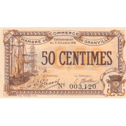 Granville - Pirot 60-7 - 50 centimes - 1916 - Etat : SUP+