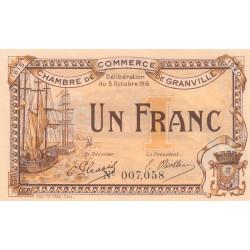 Granville - Pirot 60-9 - 1 franc - 03/10/1916 - Etat : SPL+