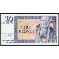 Islande - Pick 48a_2 - 10 kronur - Série A - Loi 1961 (1981) - Etat : NEUF