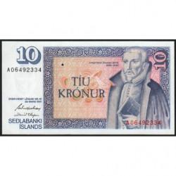 Islande - Pick 48a_3 - 10 kronur - Série A - Loi 1961 (1981) - Etat : NEUF