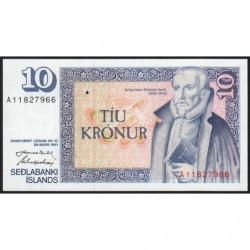 Islande - Pick 48a_4 - 10 kronur - Série A - Loi 1961 (1981) - Etat : NEUF