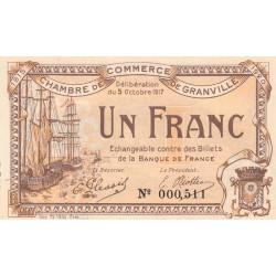 Granville - Pirot 60-13 - 1 franc - 1917 - Etat : SUP+