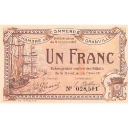 Granville - Pirot 60-13 - 1 franc - 1917 - Etat : NEUF