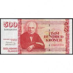 Islande - Pick 58a_1 - 500 kronur - Série D - Loi 2001 (2005) - Etat : NEUF
