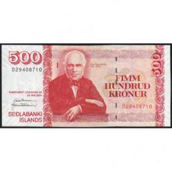 Islande - Pick 58a_2 - 500 kronur - Série D - Loi 2001 (2005) - Etat : pr.NEUF