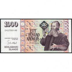 Islande - Pick 59a_5 - 1'000 kronur - Série E - Loi 2001 (2004) - Etat : NEUF