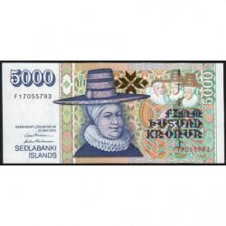 Islande - Pick 60a_3 - 5'000 kronur - Série F - Loi 2001 (2003) - Etat : NEUF