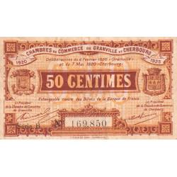Granville / Cherbourg - Pirot 61-1 - 50 centimes - Série B - 06/02/1920 - Etat : TB