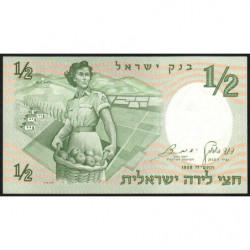 Israël - Pick 29a - 1/2 lira - 1958 (1959) - Etat : NEUF