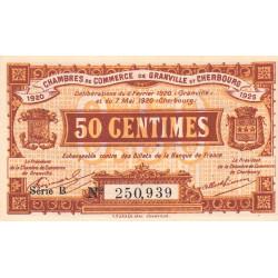 Granville / Cherbourg - Pirot 61-1 - 50 centimes - Série B - 06/02/1920 - Etat : NEUF