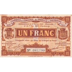 Granville / Cherbourg - Pirot 61-3 - 1 franc - Série A - 06/02/1920 - Etat : TB