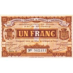 Granville / Cherbourg - Pirot 61-3 - 1 franc - Série A - 06/02/1920 - Etat : SUP+