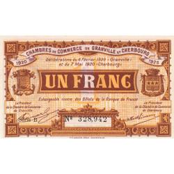 Granville / Cherbourg - Pirot 61-3 - 1 franc - Série B - 06/02/1920 - Etat : NEUF