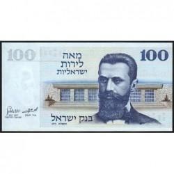 Israël - Pick 41 - 100 lirot - 1973 (1975) - Etat : NEUF