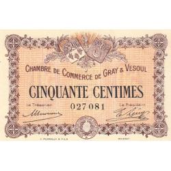 Gray / Vesoul - Pirot 62-1 - 50 centimes - 1915 - Etat : SPL
