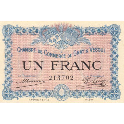 Gray / Vesoul - Pirot 62-3 - 1 franc - 1915 - Etat : SUP+