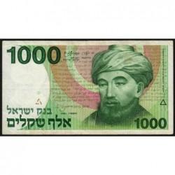 Israël - Pick 49a - 1'000 sheqalim - 1983 - Etat : TB
