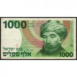 Israël - Pick 49b - 1'000 sheqalim - 1983 - Etat : TB