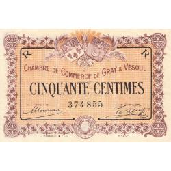 Gray / Vesoul - Pirot 62-7 - 50 centimes - 1915 - Etat : TTB