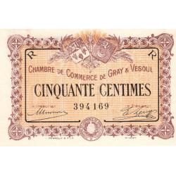 Gray / Vesoul - Pirot 62-7 - 50 centimes - 1915 - Etat : SPL à NEUF
