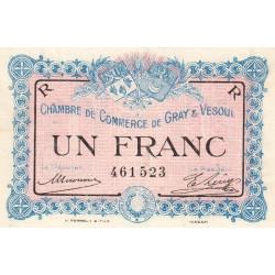 Gray / Vesoul - Pirot 62-9 - 1 franc - 1915 - Etat : SUP