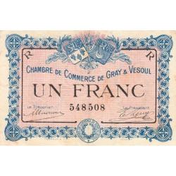 Gray / Vesoul - Pirot 62-9 - 1 franc - 1915 - Etat : TB+