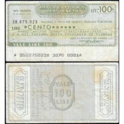 Italie - Miniassegni - Banca Cattolica del Veneto - 100 lire - 20/11/1976 - Etat : TB+
