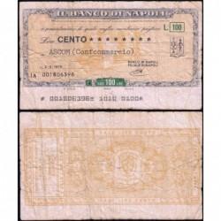 Italie - Miniassegni - Il Banco di Napoli - 100 lire - 02/02/1976 - Etat : TB-