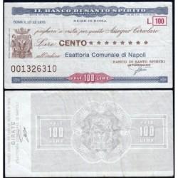 Italie - Miniassegni - Il Banco di Santo Spirito - 100 lire - 10/12/1976 - Etat : TB+