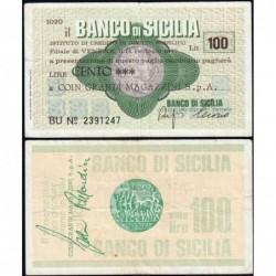 Italie - Miniassegni - Il Banco di Sicilia - 100 lire - 14/02/1977 - Etat : TB+