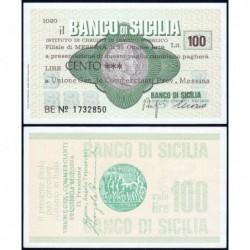 Italie - Miniassegni - Il Banco di Sicilia - 100 lire - 25/10/1976 - Etat : NEUF