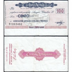 Italie - Miniassegni - Credito Artigiano - 100 lire - 08/11/1976 - Etat : TB+