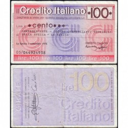 Italie - Miniassegni - Credito Italiano - 100 lire - 03/09/1976 - Etat : TTB-
