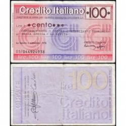 Italie - Miniassegni - Il Credito Italiano - 100 lire - 03/09/1976 - Etat : TTB-