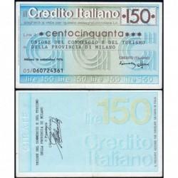 Italie - Miniassegni - Credito Italiano - 150 lire - 16/09/1976 - Etat : SUP+