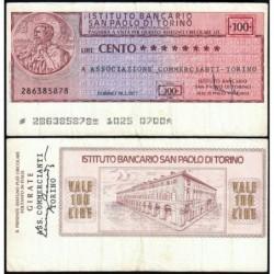 Italie - Miniassegni - L'Istituto Bancario San Paolo di Torino - 100 lire - 18/02/1977 - Etat : TB+