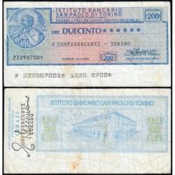 Italie - Miniassegni - Insituto Bancario San Paolo di Torino - 200 lire - 21/01/1976 - Etat : TB