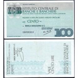 Italie - Miniassegni - Istituto Centrale di Banche e Banchieri - 100 lire - 17/03/1977 - Etat : TTB