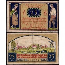 Allemagne - Notgeld - Achim - 25 pfennig - 15/01/1921 - Etat : TB
